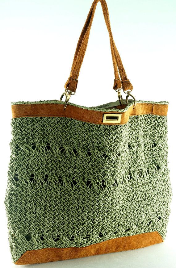Tote bag  Light Green  Organic Jute Yarn  by LUXSACCUS, $194.99  http://luxsaccus.com/tote-bag