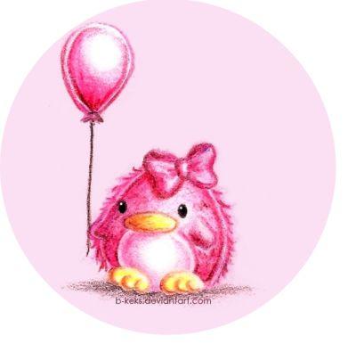 Kawaii Pink Penguin by B-Keks on DeviantArt