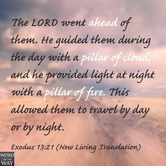 exodus 13 21 word on the way exodus pinterest
