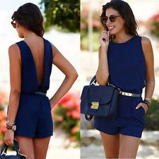 Women's Sleeveless Backless Shorts Jumpsuit Summer Shirts Romper Casual Outfits  in Clothing, Shoes & Accessories, Women's Clothing, Jumpsuits & Rompers | eBay