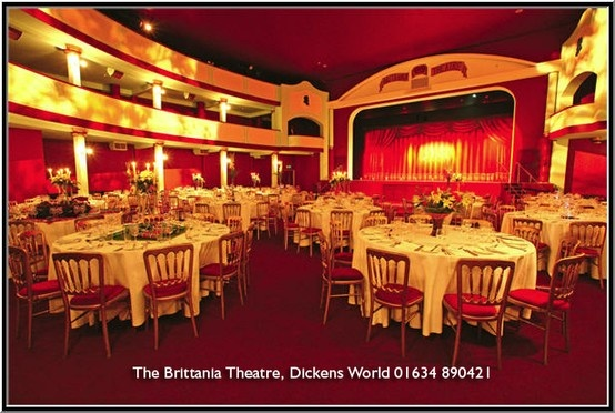 This theatre is named after Charles Dickens favourite Theatre the Britannia in Hoxton in London.  Charles Dickens spent time in Kent as his father was a clerk at the naval dock yard in Chatam.