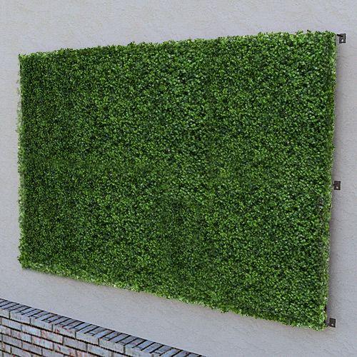 "A 96""x48"" artificial green wall panel, made with boxwood foliage. http://www.hooksandlattice.com/artificial-green-wall.html"