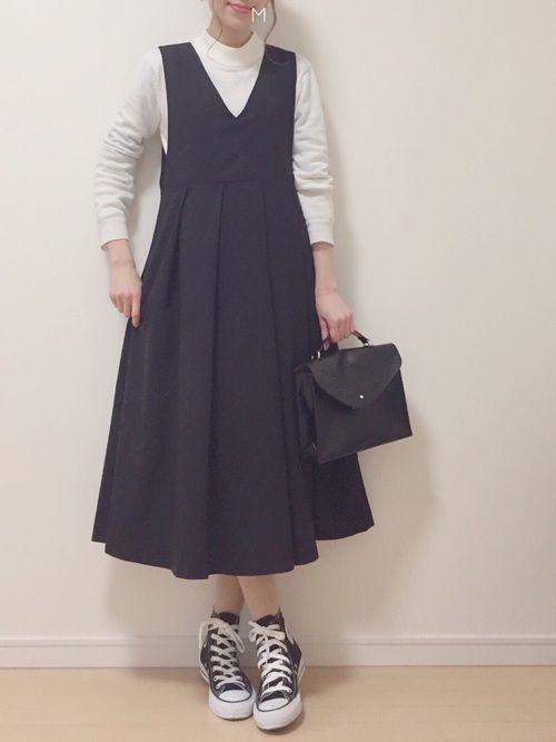 MAYUKOさんの「KBF BIGプリーツジャンパースカート(KBF)」を使ったコーディネート