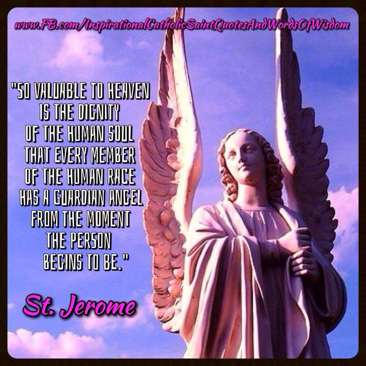 This counts for St. Jerome (feast two days ago) and Guardian Angels - today - Happy Feast Day(s)