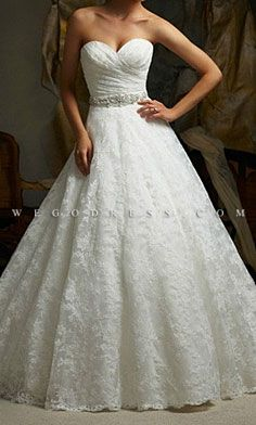 Beautiful wedding dress-- just want it less ballgown
