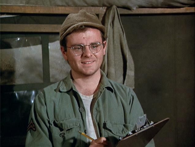 Image result for gary burghoff in M.A.S.H.