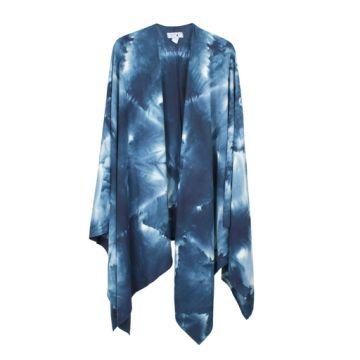 Upstate indigo shibori dyed wrap