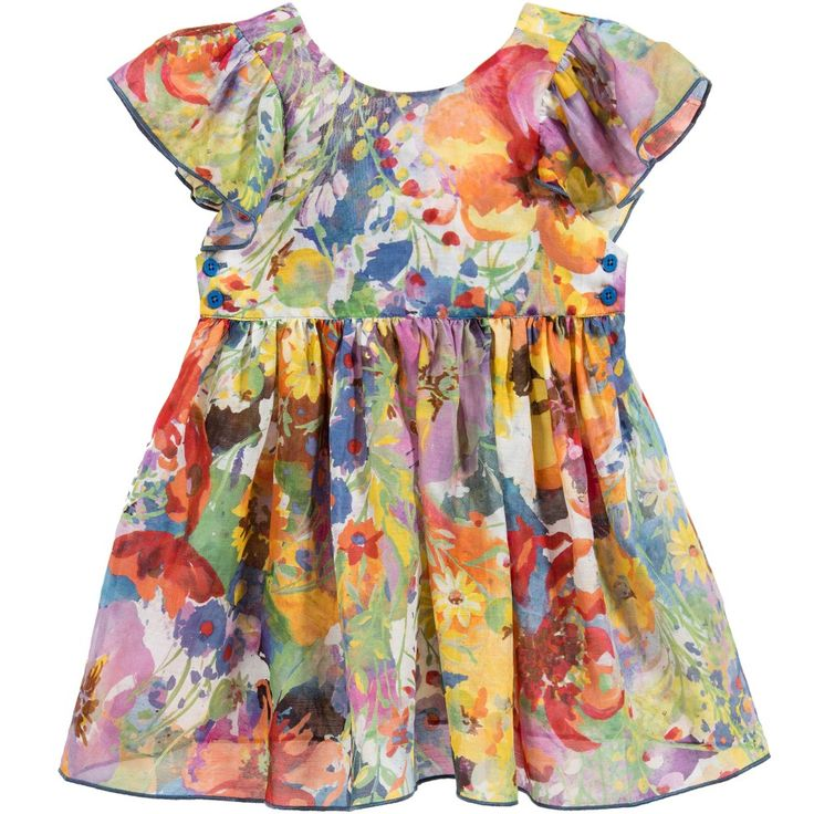 Baby Girls Floral 'Chestnut' Dress & Bloomers, Stella McCartney Kids, Girl