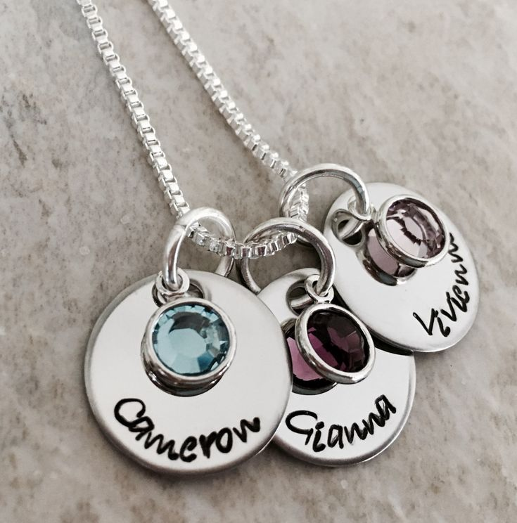Personalized+name+necklace+with+birthstone+crystals+mothers+necklace+with+kids+names+custom+monogrammed+necklace+gift+for+mom+grandma
