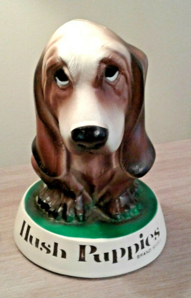 Vintage Style Hush Puppies Shoe Company Basset Hound Dog Hard Vinyl Coin Bank 8 Hushpuppies Basset Hound Dog Hound Dog Basset