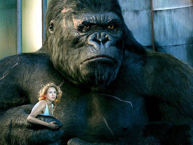 dad teased me about king kong. i was scared to death of him! but i was also obsessed with him because of this... in turn i got my son lucien hooked onto him... he believed he lived on the island at tappan lake!