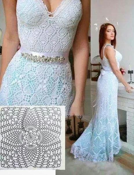 Edna Confecções em Crochê : Vestidos de noiva em crochê com Gráficos