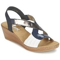 Chaussures Femme Sandales et Nu-pieds Rieker BALLIELLE Marine / Blanc