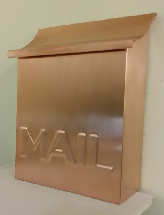 Vertical Copper Mailbox