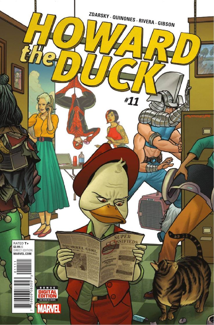 Preview: Howard the Duck #11, Story: Chip Zdarsky Art: Joe Quinones Cover: Joe Quinones Publisher: Marvel Publication Date: October 12th, 2016 Price: $3.99    Join C...,  #All-Comic #All-ComicPreviews #ChipZdarsky #Comics #HowardtheDuck #JoeQuinones #Marvel #previews
