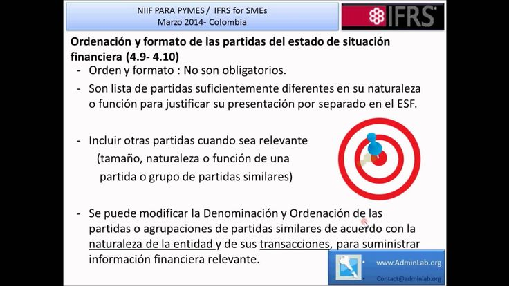 NIIF para Pymes Seccion 4 Estado de Situation Financiera