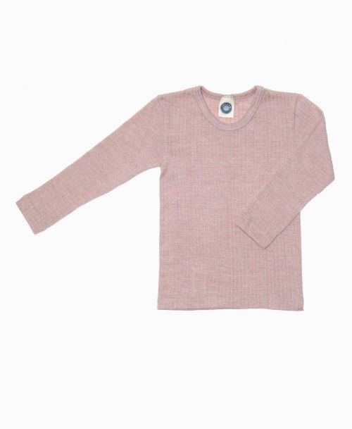 Cosilana langærmet undertrøje uld/silke/bomuld - rosa