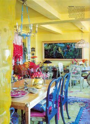 EV DEKORASYON HOBİ: Bohem stili yemek odaları