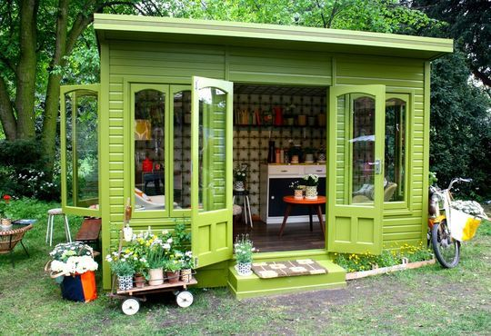 Garden RetreatGarden Sheds, Orla Kiely, Chelsea Flower Show, Green Gardens, Little Gardens, Gardens House, Outdoor Spaces, Gardens Sheds, Backyards