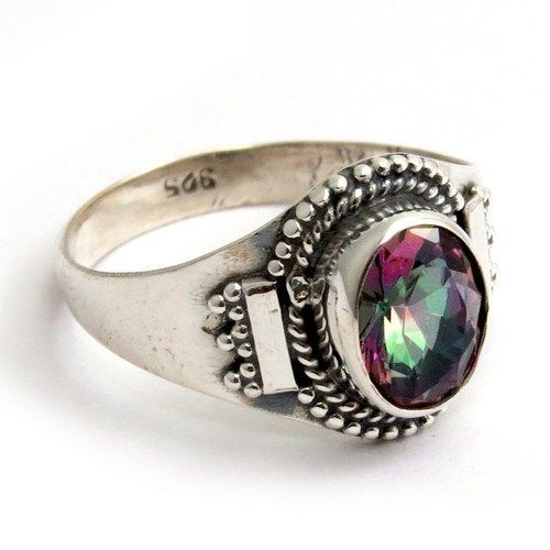 Paradise Style !! Mystic Topaz 925 Sterling Silver RingARCT1086-61 #Handmade