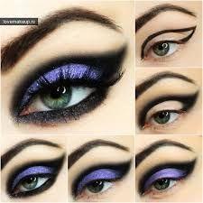 вечерний макияж, макияж, фиолетовые тени, макияж глаз, вечерний макияж, мейк ап, широкая стрелка