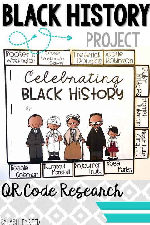 This engaging project allows students to research 11 famous Black Americans using QR codes and then make a tabbed book.
