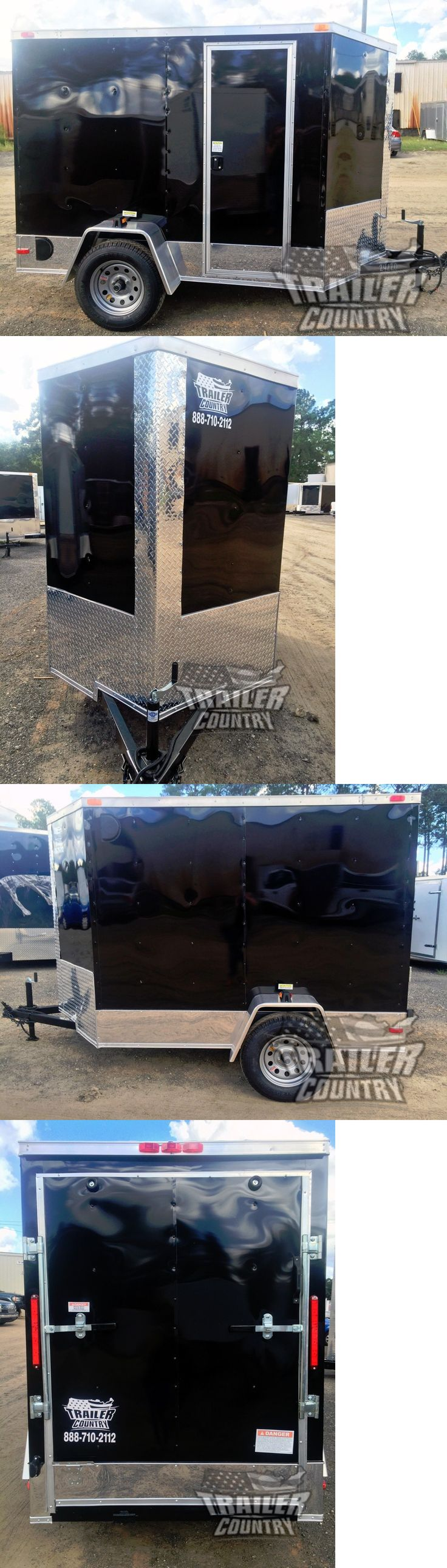 heavy equipment: New 5X8 5 X 8 V-Nose Enclosed Cargo Motorcycle Trailer Ramp And Side Door + Color -> BUY IT NOW ONLY: $1750 on eBay!