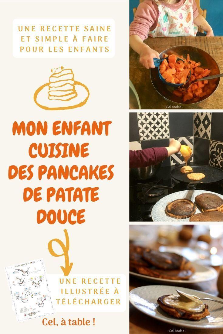Des Legumes En Dessert Cuisiner Avec Les Enfants Des Pancakes De Patate Douce Cel A Table Recette En 2020 Recettes De Cuisine Recette De Petit Dejeuner Recette