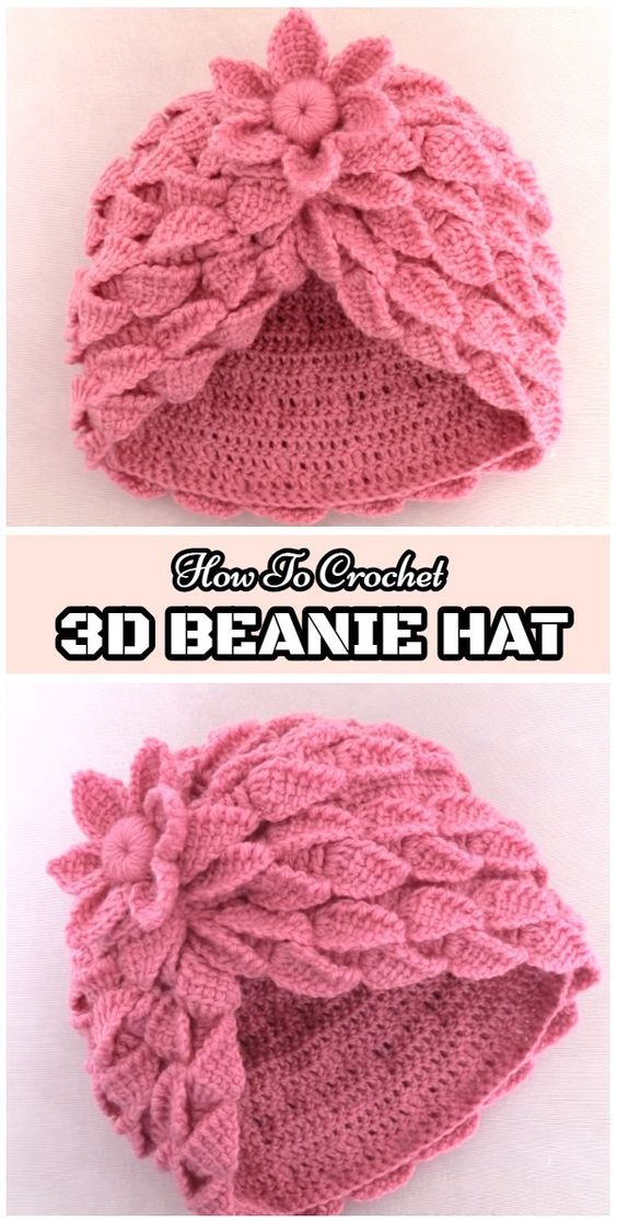 These are some of the most eye-catching and elegant designs of 3D crochet  hats. Most of these projects are fresh new 7b29b5920
