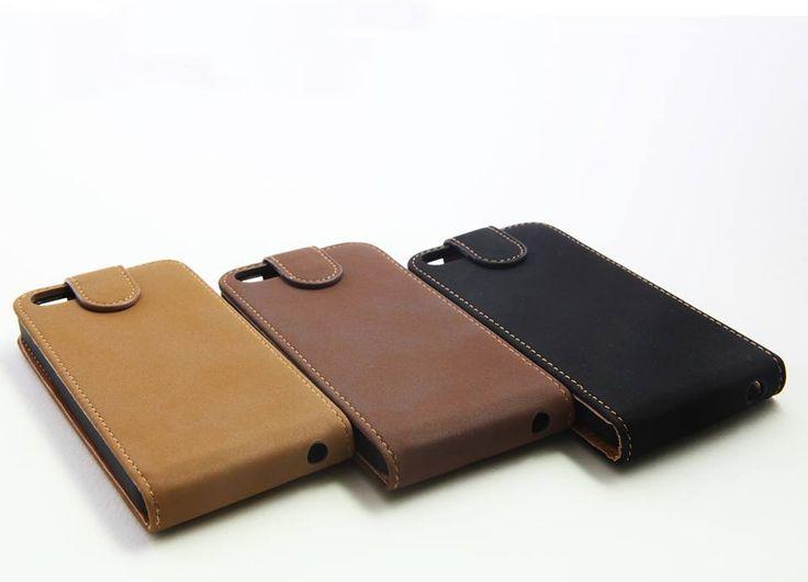 Θήκη δερμάτινη flip - Μαύρο (iPhone 5/5s) - myThiki.gr - Αξεσουάρ Smartphones & Tablets - Χρώμα μαύρο