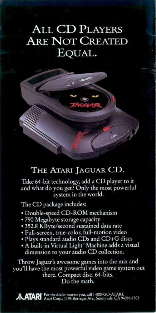 If only the Jaguar CD player had taken off... who knows where Atari would have gone.