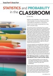 Statistis and Probability in the Classroom by Clare Way RIC Publications