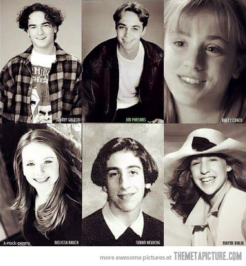 The cast of The Big Bang Theory as kids…I guess India was too hard a place to find Raj's...