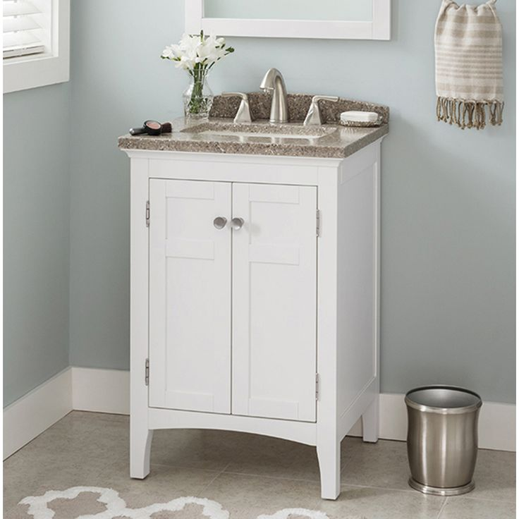 Shop Allen Roth Brisette Cream Undermount Single Sink Poplar Bathroom Vanity With Cultured