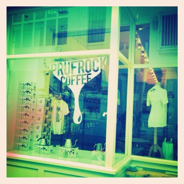 Prufrock Coffee - a funky little coffee shop down Leather Lane