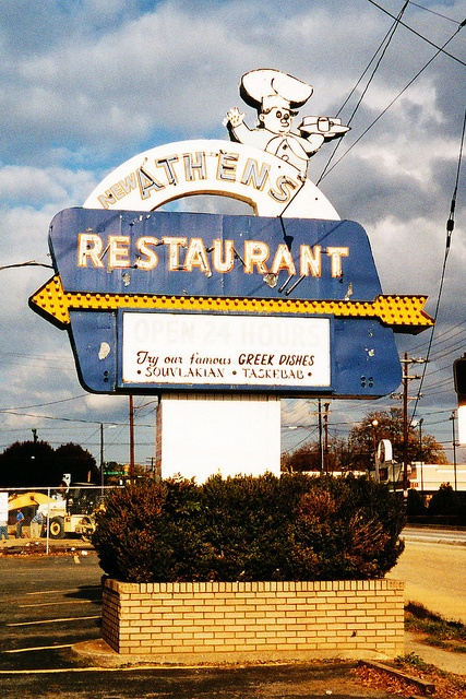 Athens Restaurant, Charlotte, NC, 2002 by Dean Jeffrey, via Flickr
