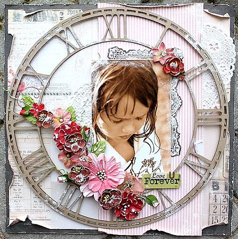 Love U Forever **Scraps of Elegance** - created by Helena Johansson with our Lovesong kit
