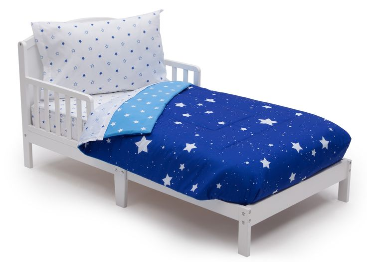 Delta Children Reversible Boys Toddler 4 Piece Bedding Set Fitted Sheet Flat Top W Elastic Bottom Comforter