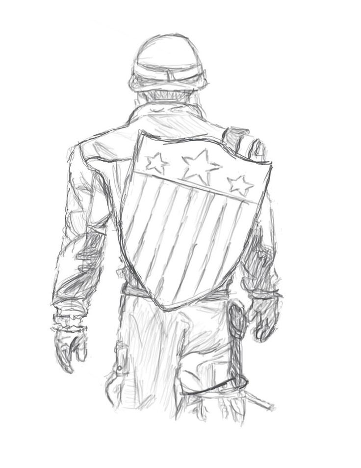 captain america drawing easy - Google Search