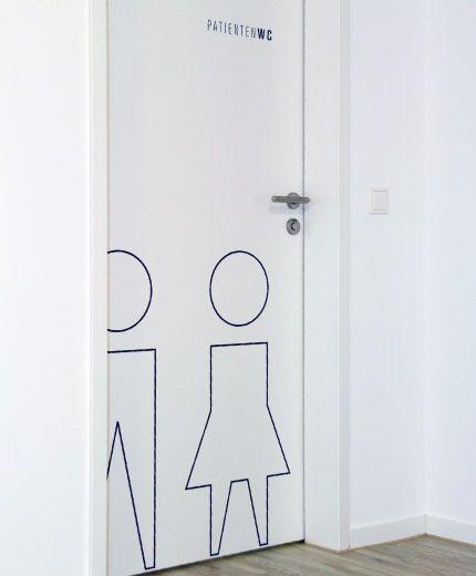 Zahnarzt Hauser Raumbeschriftung Patienten WC