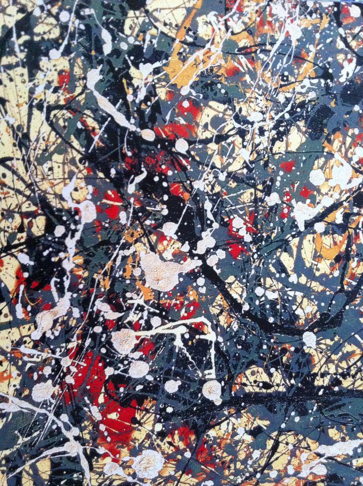 Pataugas - Pour la collection Printemps-Eté 2016, nos stylistes se sont inspirés du peintre expressionniste Jackson Pollock grâce à un cuir vernis imprimé 'tâches de peinture'