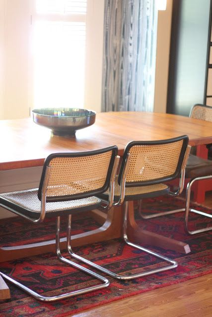 Christie Chase 546marcel breuer dining chairs  Cescathonet chairs  tulip tables  Dining
