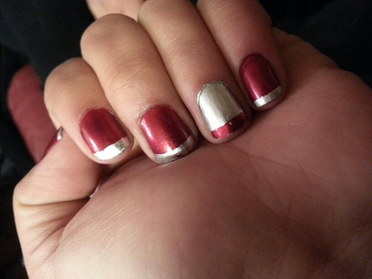 Red and silver♡