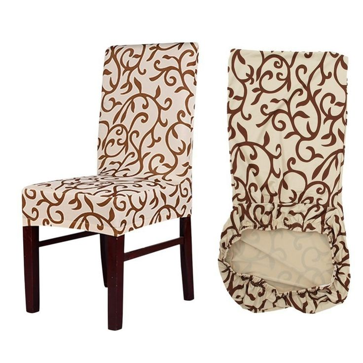 dining room chair slipcovers floral design | Floral Design Elastic Chair Slipcover | Best Sellers ...