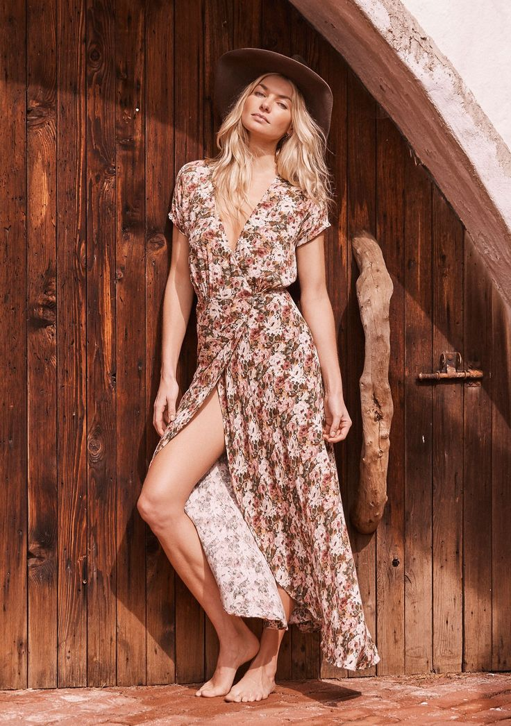 Auguste - Wild Rose Maxi Wrap Dress