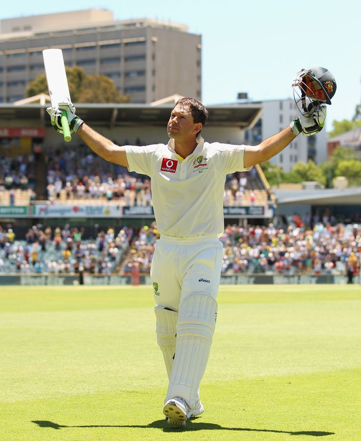 Ricky Ponting salutes the crowd after being dismissed for the last time in international cricket, Australia v South Africa, 3rd Test, Perth, 4th day, December 3, 2012© Getty Images. Don't forget, January 3 in Sydney for Test Cricket and seek out, 'Cricket in Australia' at http://www.sl.nsw.gov.au/discover_collections/society_art/cricket/index.html