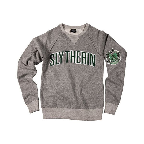 Slytherin Men's Sweatshirt (185 BRL) ❤ liked on Polyvore featuring men's fashion, men's clothing, men's hoodies, men's sweatshirts, mens short sleeve sweatshirt, mens crew neck sweatshirts, mens crewneck sweatshirts, mens sweatshirt hoodies and mens sweatshirts
