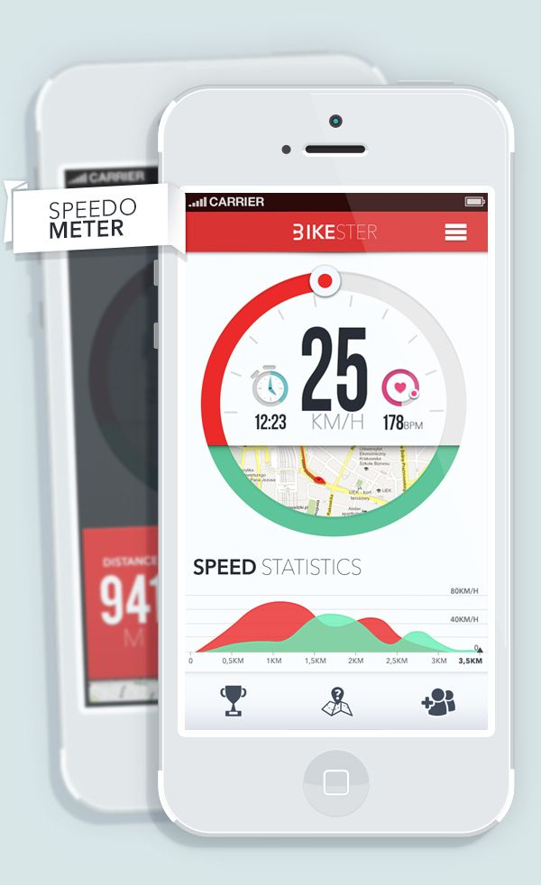Being Danish and living in the cycling capital of the universe, we of course love this Bikester APP by Michał Sambora, via Behance