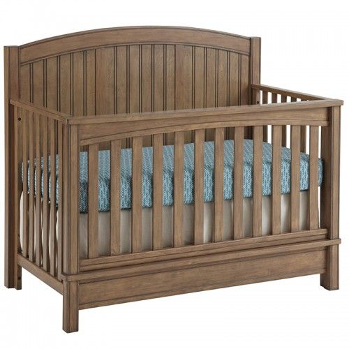 The Sealy Bristol Convertible Crib is a beautiful transitional 4-in-1 piece that converts into a toddler bed, day bed, and full size platform bed. The crib design incorporates a solid back-panel, square corner posts, wainscoting and an on-trend 2 layer finish known as Sandstone.