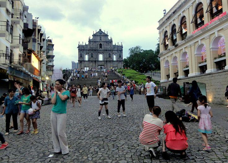 Portuguese Ruins of St. Paul in Macau old town.